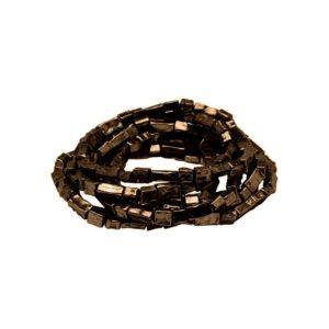B50026.60 - Bracelet empilable extensible en étain couleur bronze