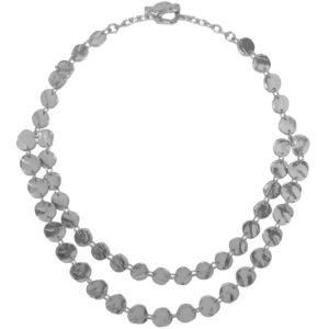 N56007.20 - Collier étain argenté 925 Sterling avec une multitude de médaillon