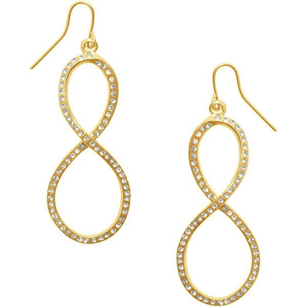 E62047.11 - Boucles d'oreilles étain doré 24 carats avec des cristaux