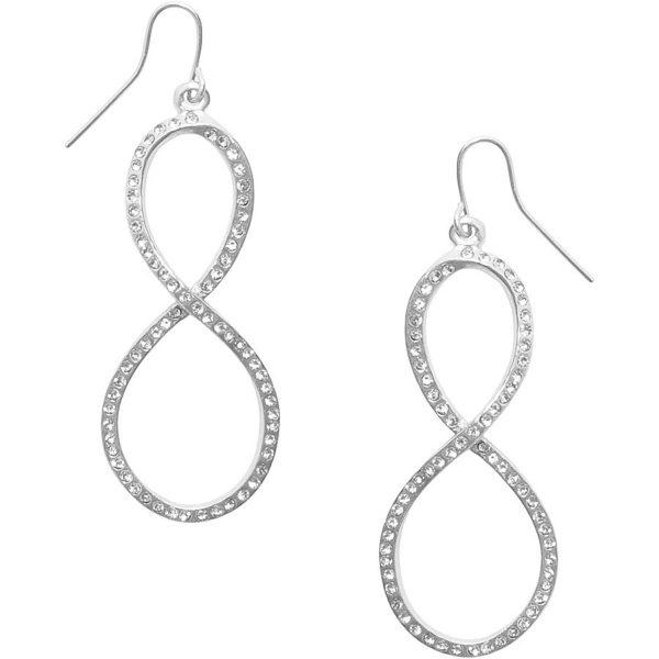 E62047.21 - Boucles d'oreilles étain argenté 925 Sterling avec des cristaux