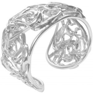 B63165.20 - Bracelet étain argenté au 925 Sterling avec un chevauchement de rubans