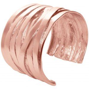 B63168.50 - Bracelet étain doré rose à l'or fin 24 carats avec un croisé de multi-ligne