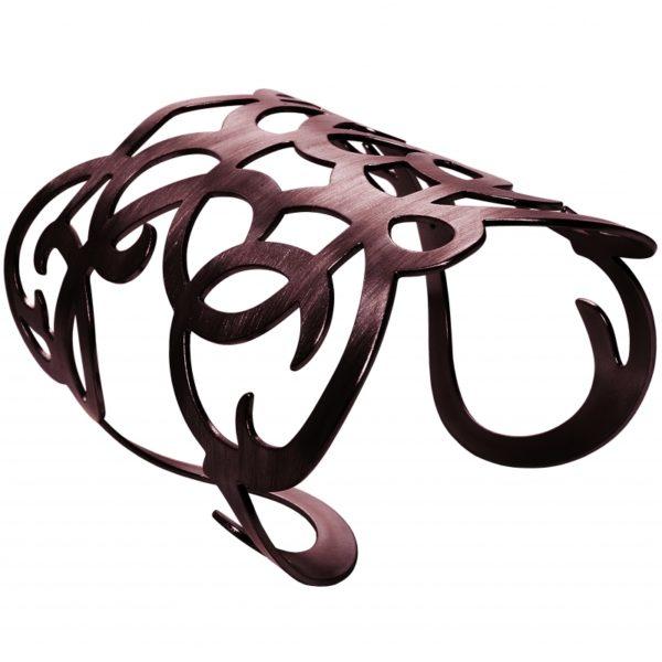 B63055.60 - Bracelet étain bronze avec une texture légèrement brossé