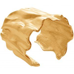 B63062.10 - Bracelet étain doré à l'or fin 24 Carats de forme ondulée