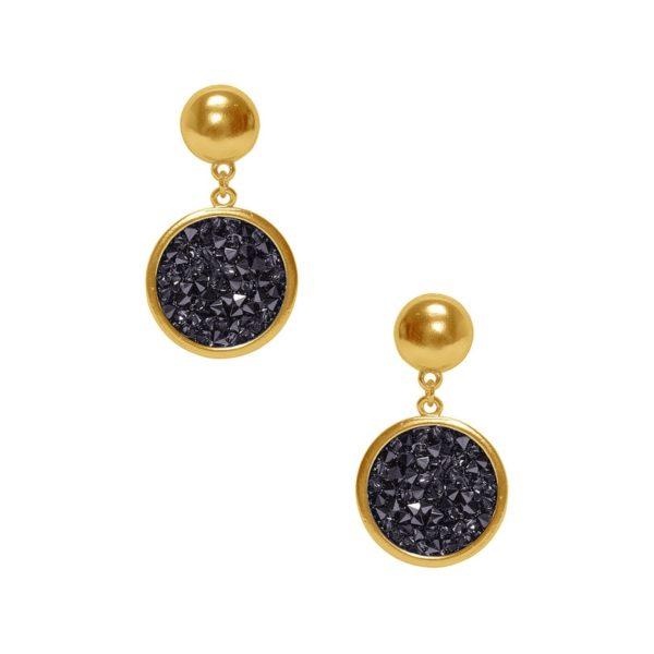 E63002.13 - Matte gold classy dangling earrings
