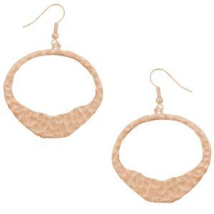 E50100.50 - Boucles d'oreilles étain doré à l'or rose fin 24 Carats