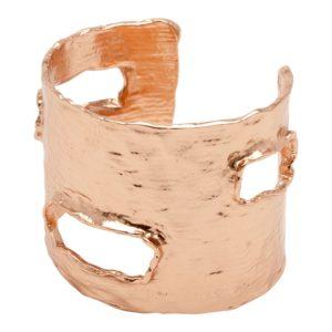CARLA - B09846.50 Bracelet martelé doré à l'or rose fin 24 carats