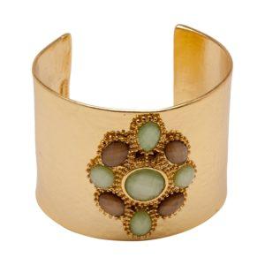 B55057.16 Bracelet brillant doré à l'or fin 24 Carats