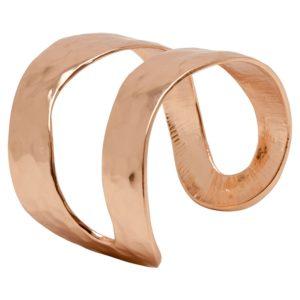 ANNIE - B57016.50 Bracelet martelé doré à l'or rose fin 24 carats de forme onduleuse