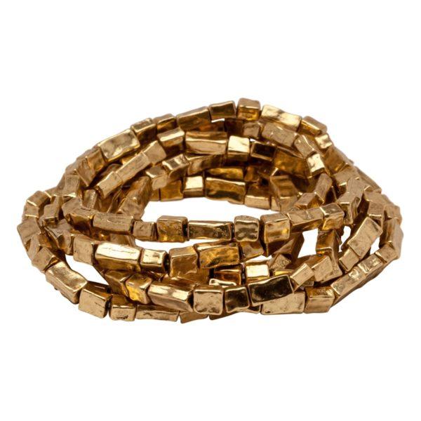 Bracelet empilable extensible en Or oxydé B50026