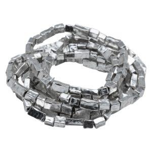 Bracelet empilable extensible en Argent oxydé B50026
