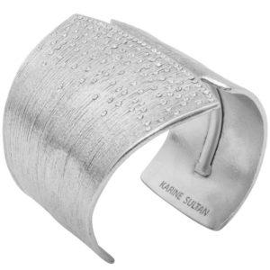 B62006.41 - Bracelet étain argenté aux 925 Sterlings avec de multiples cristaux clairs