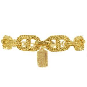 B63228.10 - Bracelet étain doré en conception corde