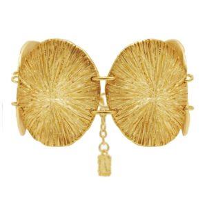 B63236.30 - Bracelet doré à l'or fin avec quatre grandes pièces circulaires