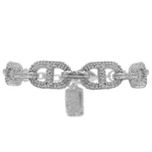 B63228.40 - Bracelet étain argenté en conception corde