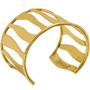 B64026.30 - Bracelet doré à l'or fin 24 Carats avec des lignes tourbillonnantes