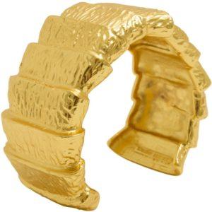 B64050.10 - Bracelet doré à l'or fin 24 Carats avec un style de chevauchement