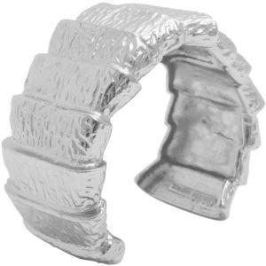 B64050.40 - Bracelet argenté aux 925 Sterling avec un style de chevauchement