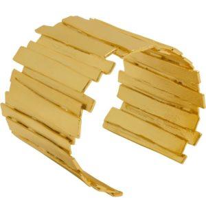 B64052.10 - Bracelet doré à l'or fin 24 Carats un design de barres empilées