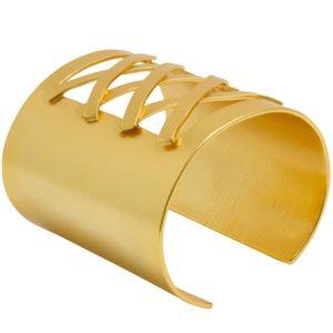 B64057.10 - Bracelet doré avec une texture légèrement brossé