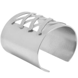 B64057.40 - Bracelet argenté avec une texture légèrement brossé