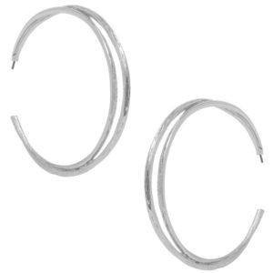 E58041.20 - Boucles d'oreilles glamour argenté (Visible dans le Genlux Magazine)