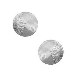 E64031.20 - Boucles d'oreilles argenté aux 925 Sterling avec un cercle
