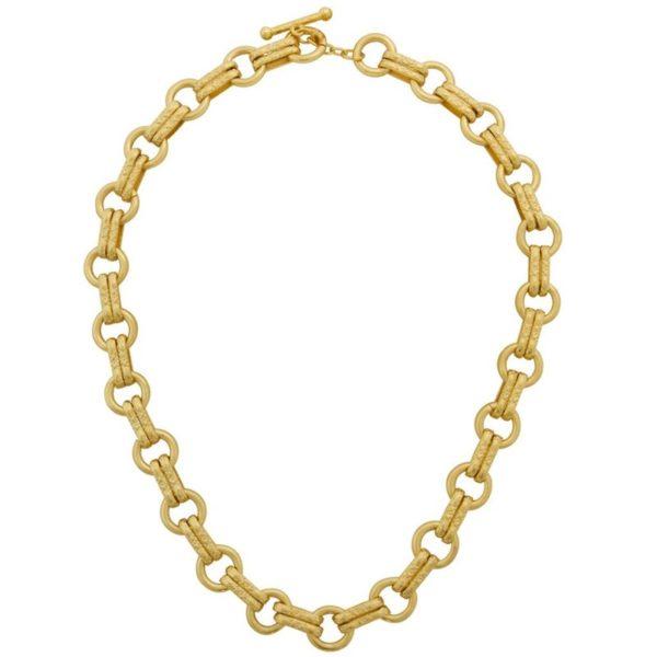 N63255.10 - Collier doré ornée de doubles réalisations