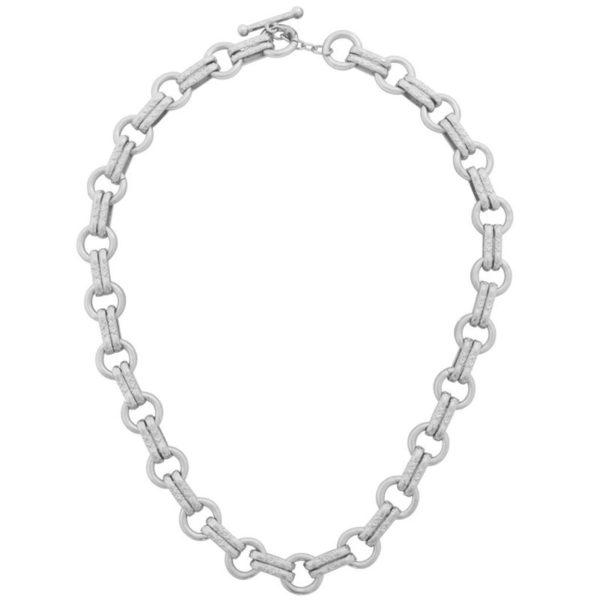N63255.20 - Collier argenté ornée de doubles réalisations