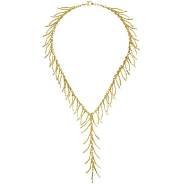 N64017.10 - Collier doré comportant une chaîne brossé