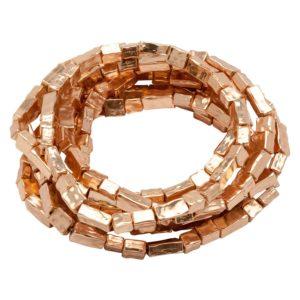 B50026.50 Bracelet empilable extensible doré à l'or rose fin 24 carats