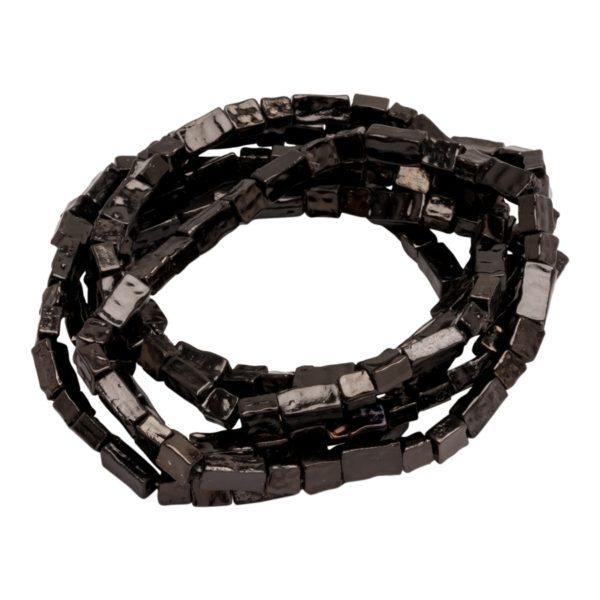 B50026.70 Bracelet empilable extensible en étain couleur hématite