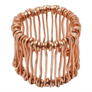 B09126.50 Bracelet bâton Mat doré à l'or rose fin 24 carats
