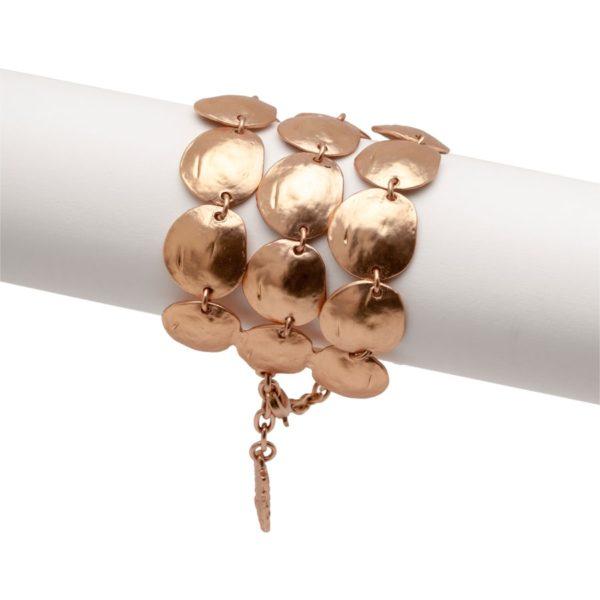 LUCIE - B06926.50 Bracelet élégant doré à l'or rose fin 24 carats