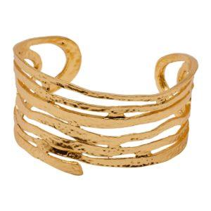 AMELIE - B08126.10 Bracelet tourbillon doré à l'or fin 24 carats