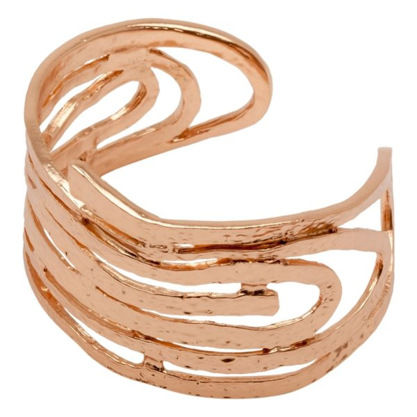 AMELIE - B08126.50 Bracelet tourbillon doré à l'or rose fin 24 carats