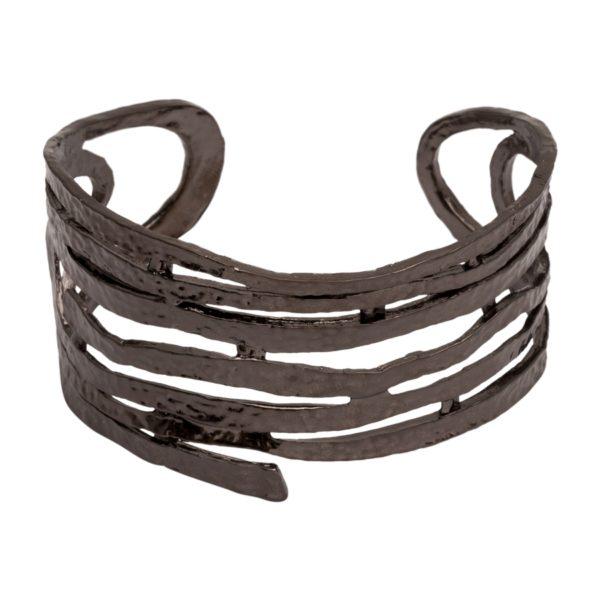 B08126.70 Bracelet tourbillon en étain couleur hématite