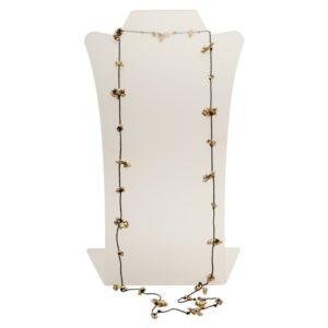 N50088.30 - Long collier noir avec des pépites doré