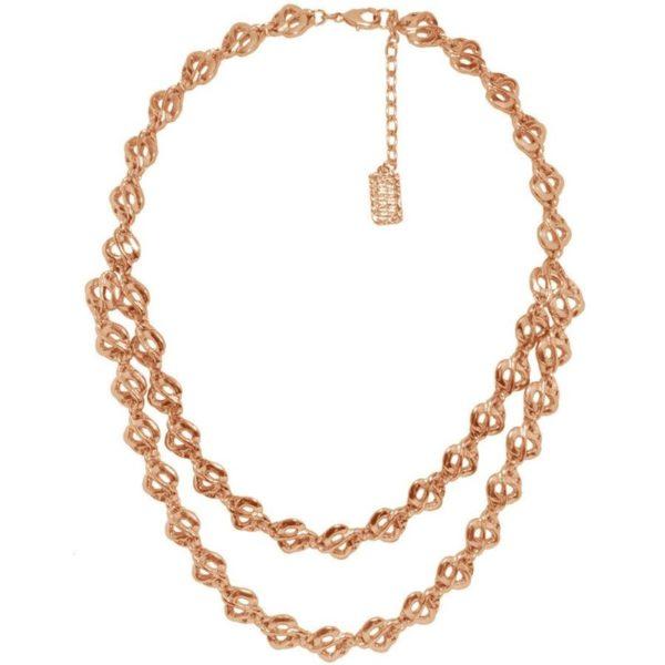 N61000.50 - Collier doré rose à double chaine