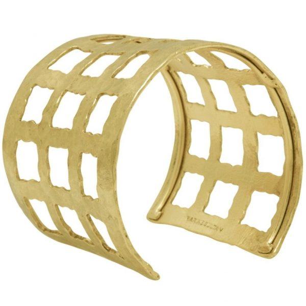 B66004.30 - Bracelet doré martelé de conception antique