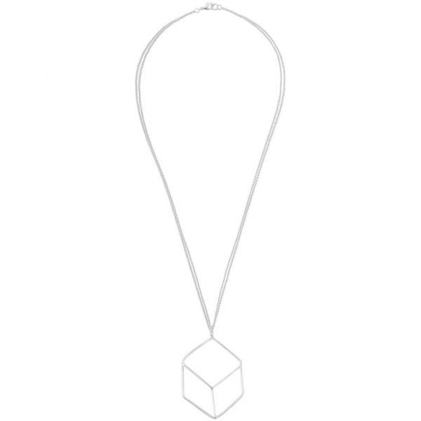 N64023.10 Large silver geometric openwork pendant