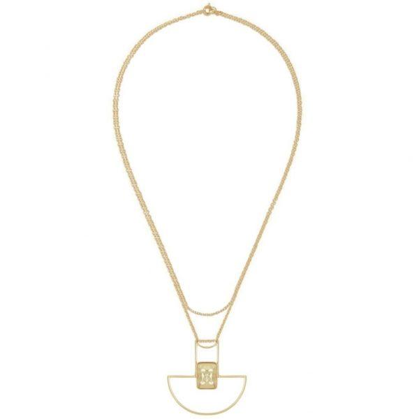 N64526.10 - Collier doré à l'or fin avec un pendentif