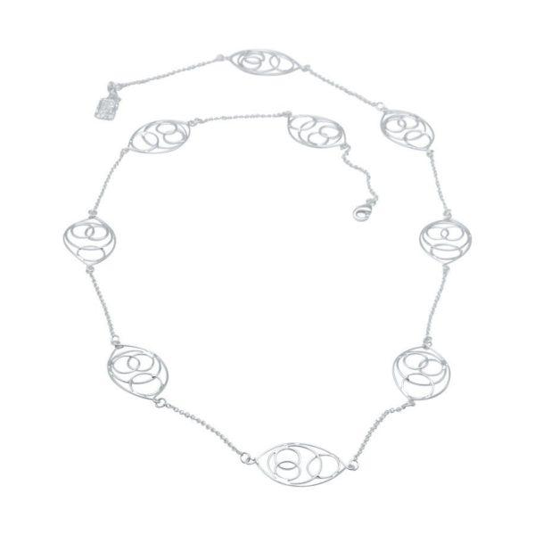 N54053.20 - Collier argenté avec un dessin en forme de cercle