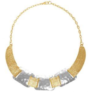 N63077.01 - Collier doré et argenté moderne