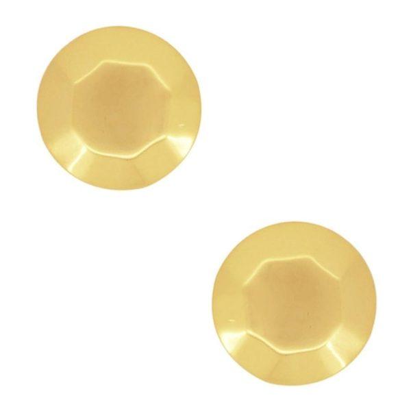 E61016.10 - Boucles d'oreilles doré en forme de brique