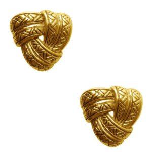 E62100.30 - Boucles d'oreilles doré style antique