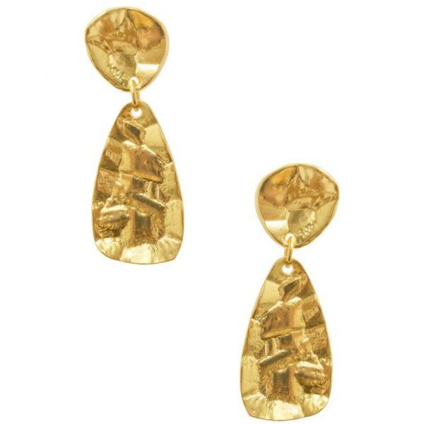 E64036.30 - Boucles d'oreilles doré style antique