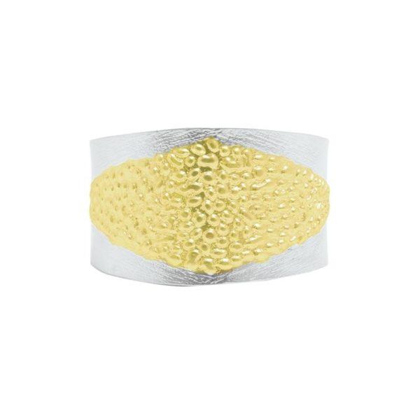 B64013.02 - Bracelet moderne argenté et doré