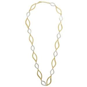 N64061.01 - Collier élégant doré et argenté