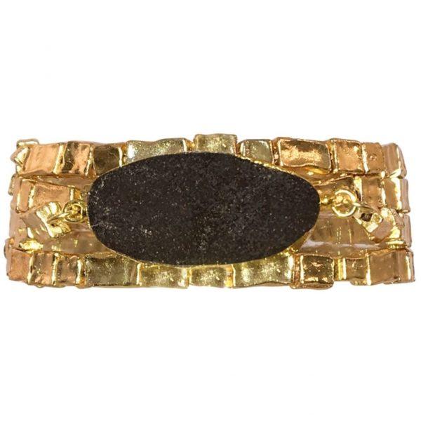 B80015.13 - Bracelet avec de perles doré à l'or fin